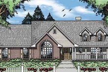 Country Exterior - Front Elevation Plan #42-593