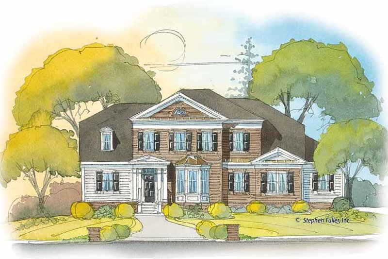 House Plan Design - Colonial Exterior - Front Elevation Plan #429-403