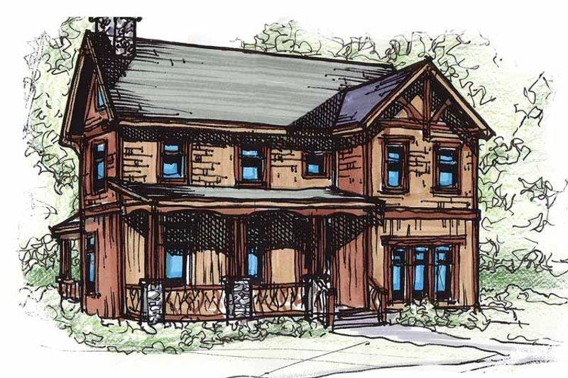 Architectural House Design - Craftsman Exterior - Front Elevation Plan #17-2909
