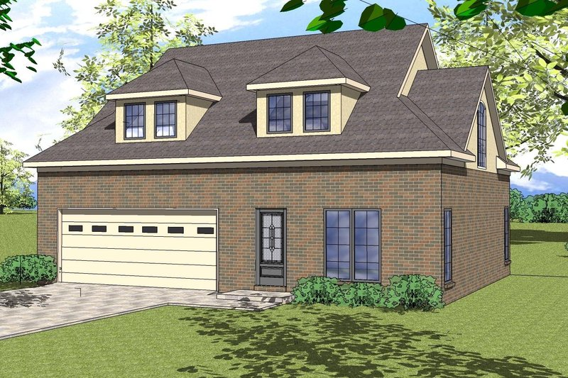 Southern Exterior - Front Elevation Plan #8-313