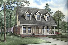 Country Exterior - Front Elevation Plan #17-3205