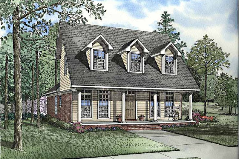 Country Exterior - Front Elevation Plan #17-3205 - Houseplans.com