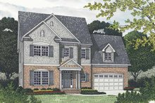 House Plan Design - Traditional Exterior - Front Elevation Plan #453-539