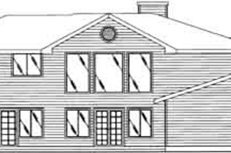 Traditional Exterior - Rear Elevation Plan #117-321 - Houseplans.com