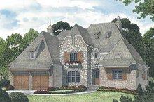 House Plan Design - European Exterior - Front Elevation Plan #453-588