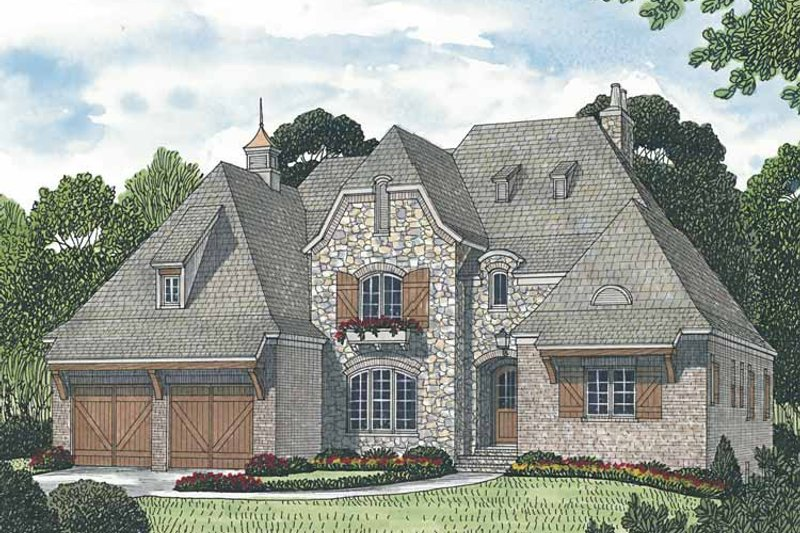 European Exterior - Front Elevation Plan #453-588