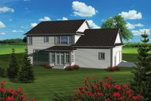 Dream House Plan - Traditional Exterior - Rear Elevation Plan #70-1089