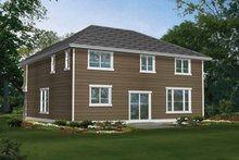 Craftsman Exterior - Rear Elevation Plan #132-259