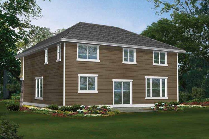 Craftsman Exterior - Rear Elevation Plan #132-259 - Houseplans.com