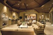 Mediterranean Style House Plan - 4 Beds 5.5 Baths 6684 Sq/Ft Plan #930-398 Interior - Family Room