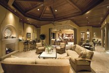 Mediterranean Interior - Family Room Plan #930-398