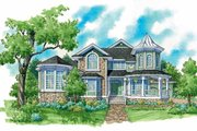 Victorian Style House Plan - 4 Beds 3.5 Baths 3096 Sq/Ft Plan #930-238 Exterior - Front Elevation