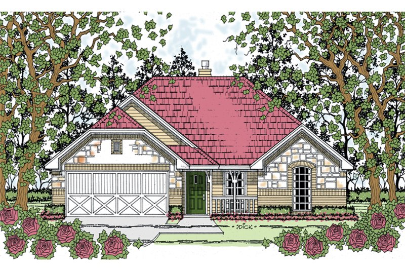 House Plan Design - Country Exterior - Front Elevation Plan #42-720