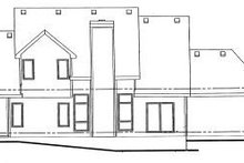 Home Plan - Traditional Exterior - Rear Elevation Plan #20-470