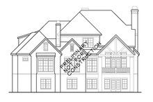 Country Exterior - Rear Elevation Plan #927-479