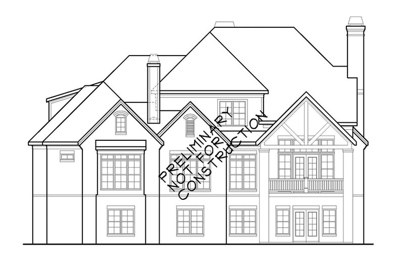 Country Exterior - Rear Elevation Plan #927-479 - Houseplans.com