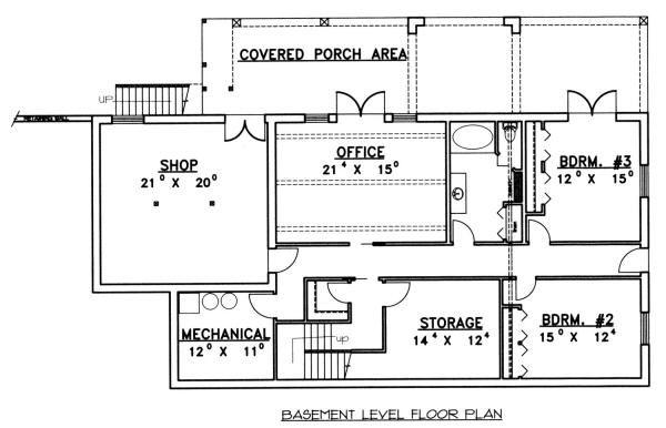 Mediterranean Floor Plan - Lower Floor Plan Plan #117-559