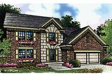 Architectural House Design - Traditional Exterior - Front Elevation Plan #51-807