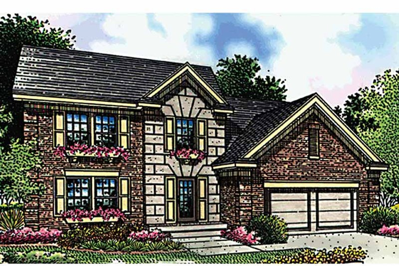 Traditional Exterior - Front Elevation Plan #51-807 - Houseplans.com