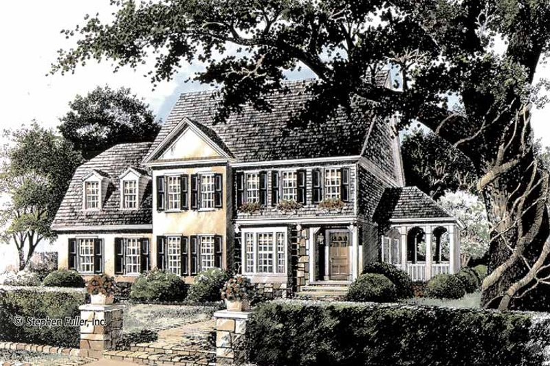Country Exterior - Front Elevation Plan #429-359 - Houseplans.com