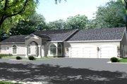 Ranch Style House Plan - 4 Beds 3 Baths 3189 Sq/Ft Plan #1-793 Exterior - Front Elevation