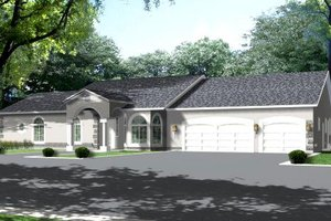 Ranch Exterior - Front Elevation Plan #1-793