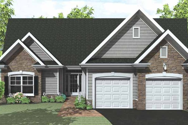 Ranch Exterior - Front Elevation Plan #1010-27
