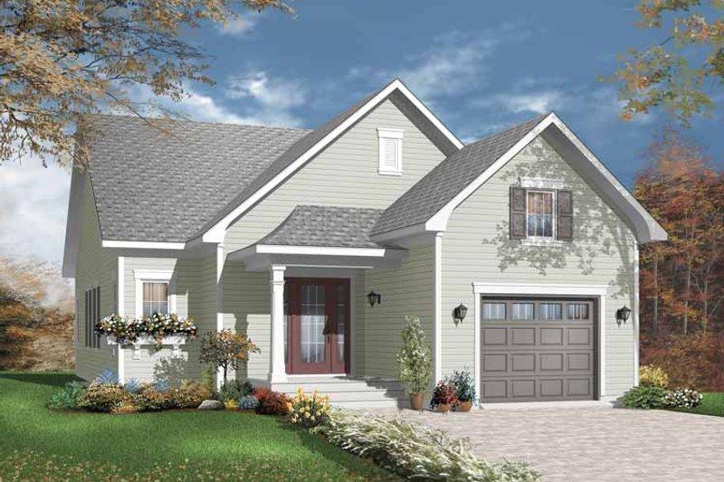 Architectural House Design - Craftsman Exterior - Front Elevation Plan #23-2381