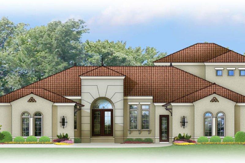 House Plan Design - Mediterranean Exterior - Front Elevation Plan #1058-84