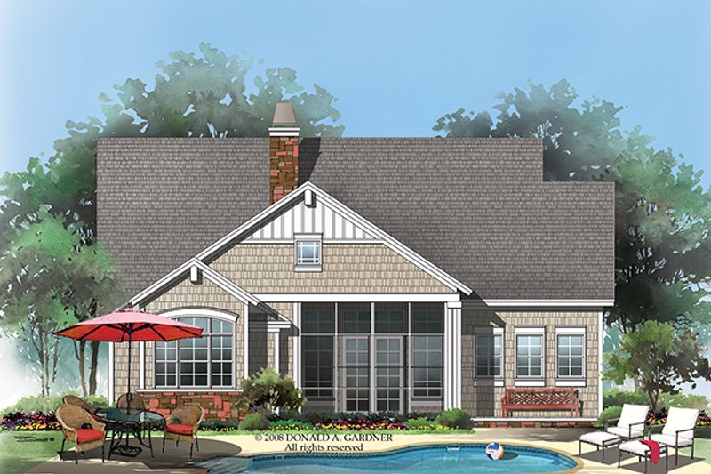 Craftsman Exterior - Rear Elevation Plan #929-918 - Houseplans.com
