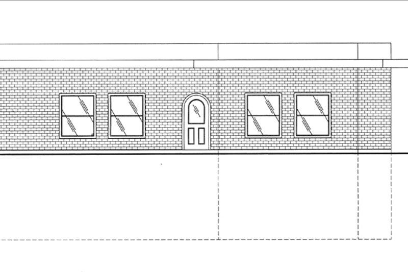 Contemporary Exterior - Other Elevation Plan #117-853 - Houseplans.com