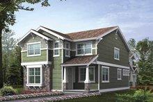 Architectural House Design - Craftsman Exterior - Front Elevation Plan #132-384