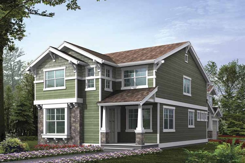 Dream House Plan - Craftsman Exterior - Front Elevation Plan #132-384