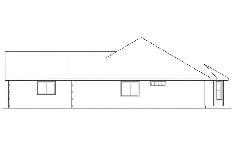 Ranch Exterior - Other Elevation Plan #124-295 - Houseplans.com