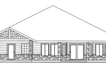 Architectural House Design - Traditional Exterior - Rear Elevation Plan #117-834