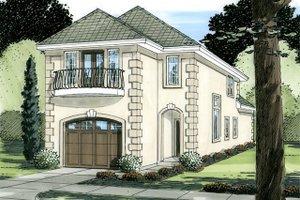 Home Plan - European Exterior - Front Elevation Plan #126-227