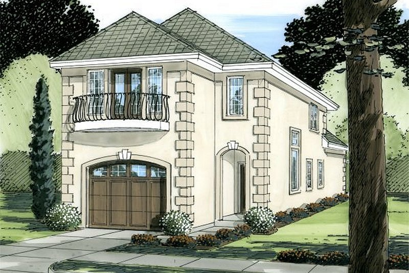 House Plan Design - European Exterior - Front Elevation Plan #126-227