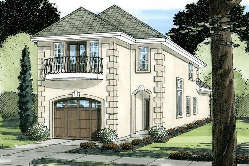 House Plan Design - European Exterior - Front Elevation Plan #126-227