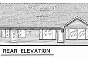 Traditional Style House Plan - 3 Beds 2 Baths 1916 Sq/Ft Plan #18-4461 Exterior - Rear Elevation