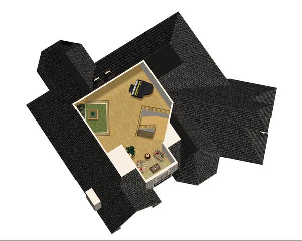 European Floor Plan - Upper Floor Plan Plan #25-4695