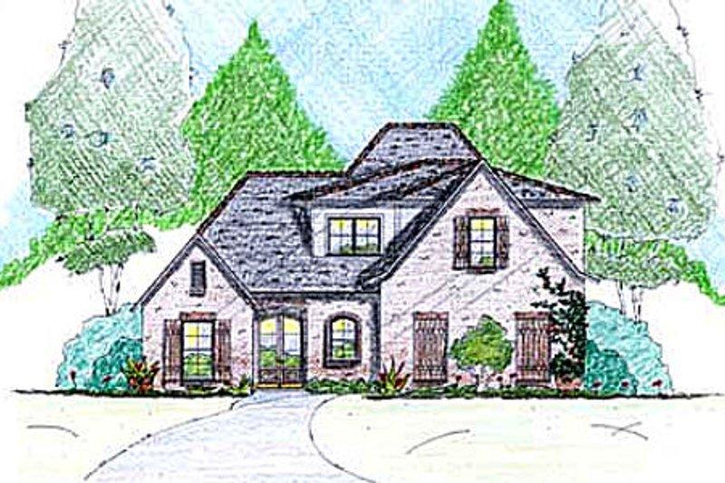 Dream House Plan - European Exterior - Front Elevation Plan #36-494