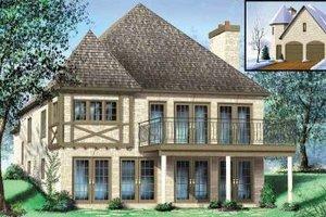 Tudor Exterior - Front Elevation Plan #25-4183