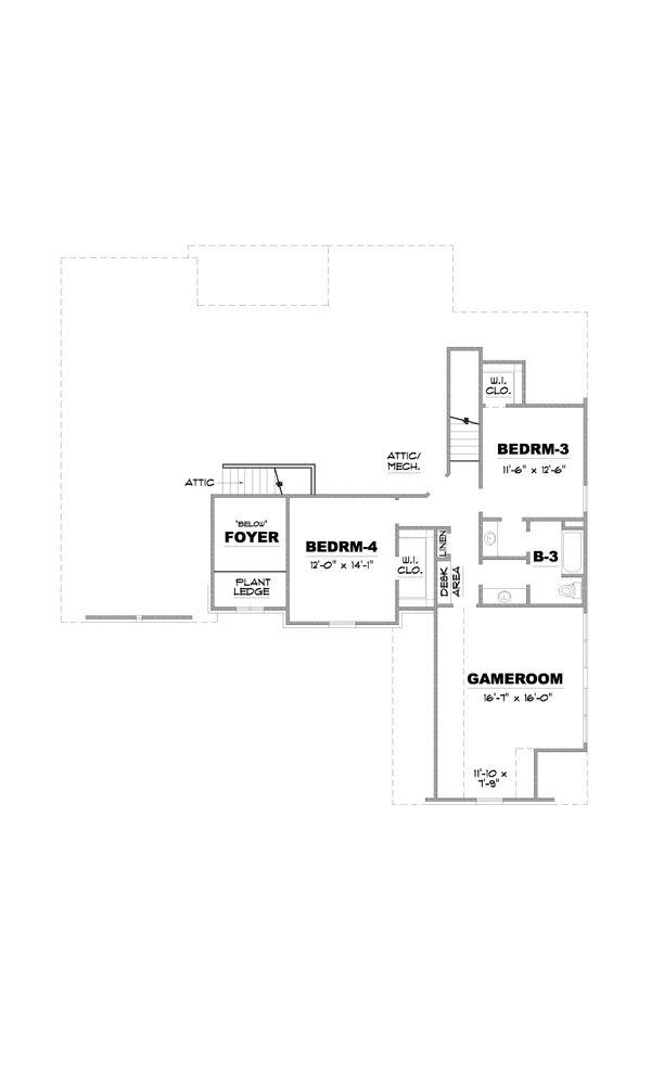 European Floor Plan - Upper Floor Plan Plan #34-231