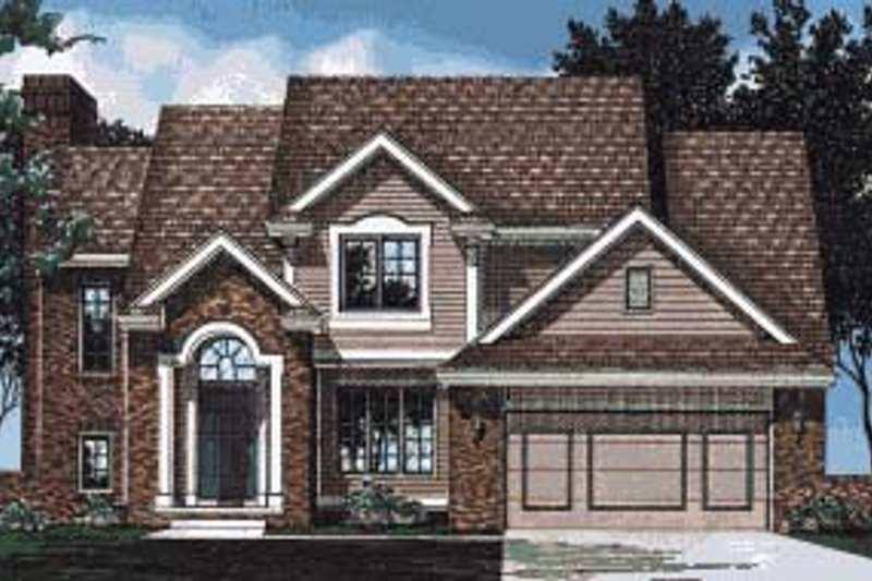 Traditional Exterior - Front Elevation Plan #20-716 - Houseplans.com
