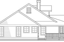 Home Plan - Farmhouse Exterior - Other Elevation Plan #124-406