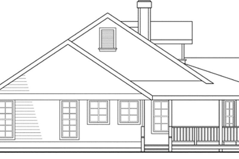 Farmhouse Exterior - Other Elevation Plan #124-406 - Houseplans.com