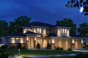 Home Plan Design - Modern Exterior - Front Elevation Plan #20-2268