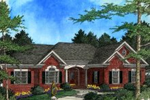 Southern Exterior - Front Elevation Plan #56-177