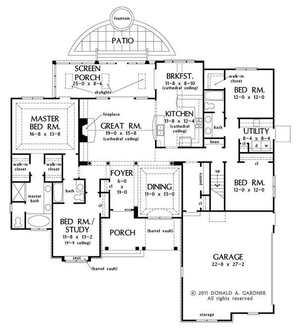European Floor Plan - Main Floor Plan Plan #929-27