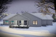 Craftsman Style House Plan - 3 Beds 2 Baths 1921 Sq/Ft Plan #70-1479 Exterior - Rear Elevation